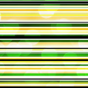 Striped art groen geel met bokeh von