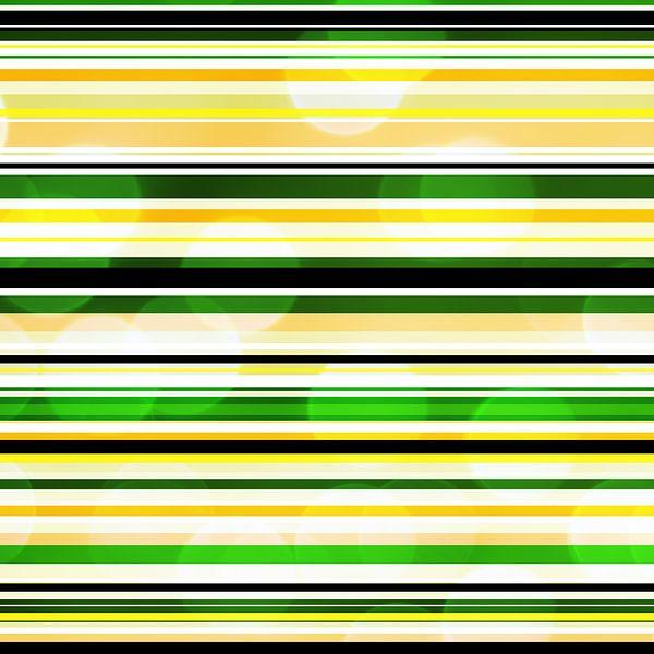Striped art groen geel met bokeh van Patricia Verbruggen