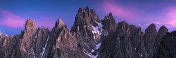 Dolomiten-Panorama-Blau Stunde 3:1 von Vincent Fennis