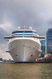 Cruiseschip op het Amsterdamse IJ