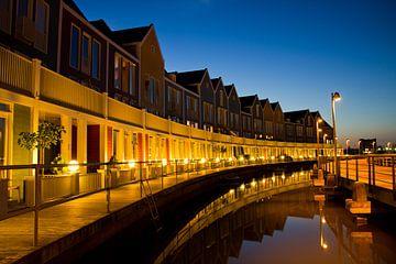 """Houten bij nacht vissersdorp """"De Goede Reede"""" von fotogevoel .nl"""