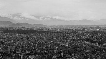 Kathmandu Nepal (zwart-wit) van Merijn Geurts