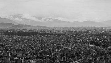 Kathmandu Nepal (zwart-wit)