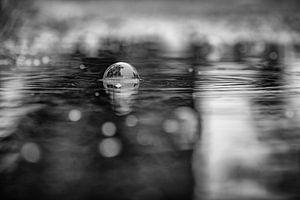 Regen mit Wasserblase