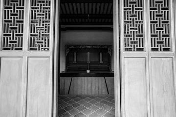Konfuzius-Tempel in Tainan, Taiwan, Asien von WorldWidePhotoWeb