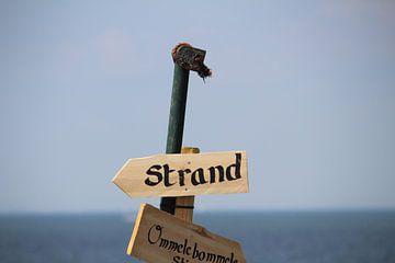Wegwijzer 'Strand' van Clicksby JB