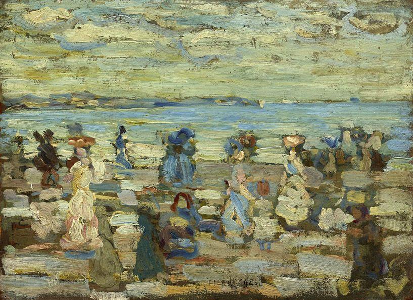 Maurice Brazil Prendergast~Strand-Szene von finemasterpiece
