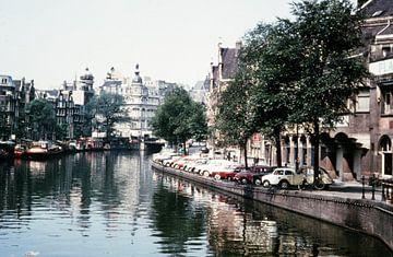 Vintage Amsterdam gracht 60s van Jaap Ros