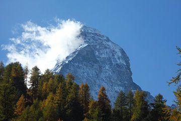 Stafelalp, Matterhorn mit Wolken und Nordwand, Zermatt, Schweiz I  Stafelalp, Matterhorn, Zermatt, S von Torsten Krüger