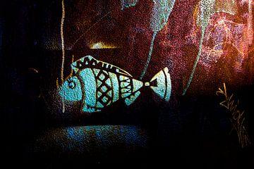 Een roestige vis van