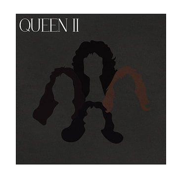Minimalistische illustratie van Queen II van Marith Buma
