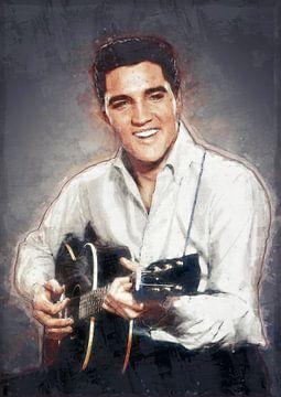 Elvis Presley in Ölfarbe von Bert Hooijer