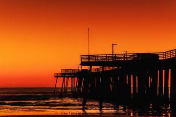 Sonnenuntergang am Pismo Strand von Rolf Linnemeijer