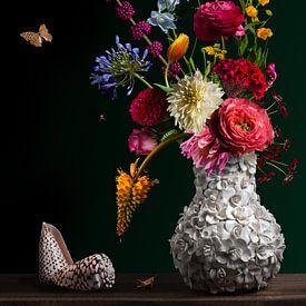 Royal Flora 2.0 stilleven van Sander Van Laar