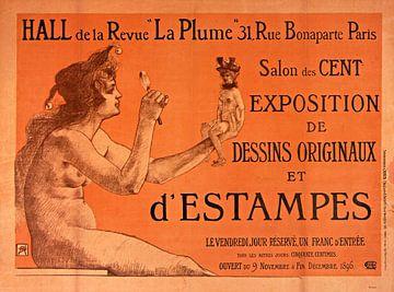 Plakat für den Salon des Cent, Armand Rassenfosse von Atelier Liesjes