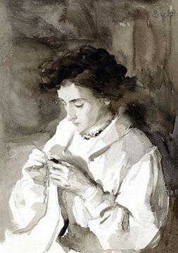 Hackende Frau, Bramine Hubrecht - ca. 1890