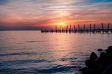 Sonnenuntergang Westeinderplassen Aalsmeer von Dutch Creator