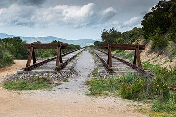 spoorbuffer op het eiland sardinie van Compuinfoto .