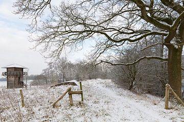 Romeinse wachttoren in winters landschap von Marijke van Eijkeren