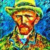 Zelfportret Vincent van Gogh van Theo van der Genugten thumbnail