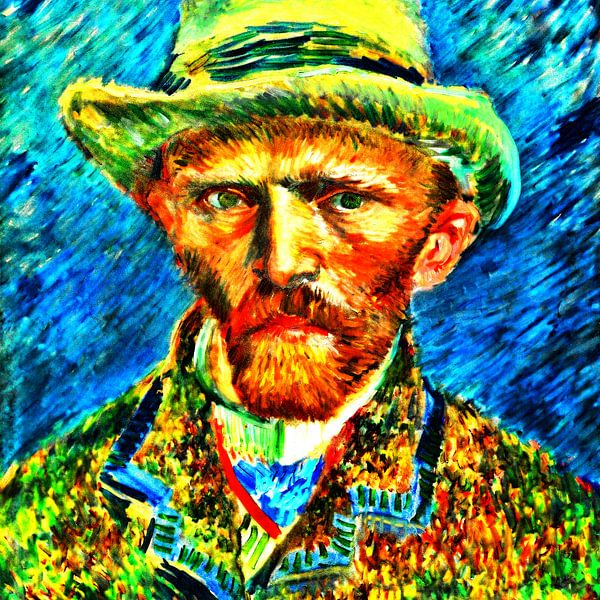 Zelfportret Vincent van Gogh van Theo van der Genugten