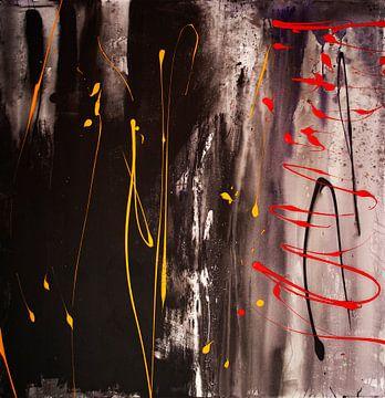 Farbige Linien auf Schwarz von Klaus Heidecker