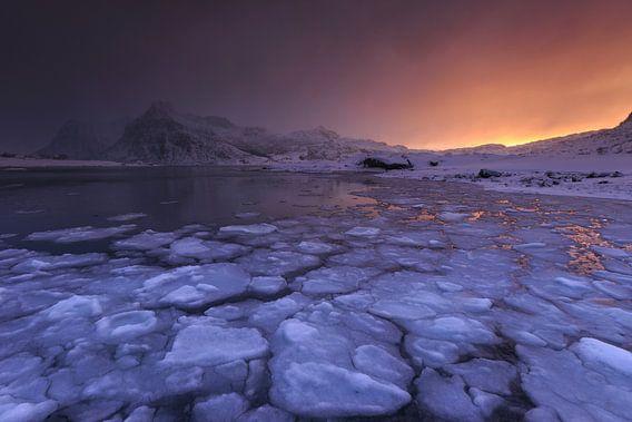 IJsfjord, Lofoten, Noorwegen