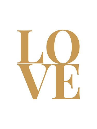 Love (wit/goud)