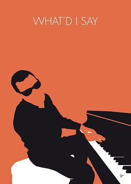 No003 MY Ray Charles Minimal Music poster von Chungkong Art