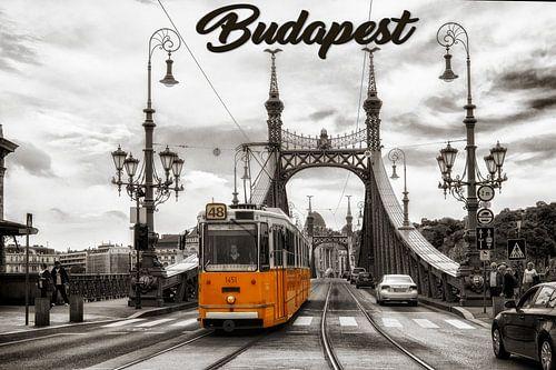 Boedapest - historische tram van Carina Buchspies