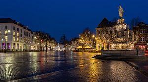 Deventer in kerstsfeer na een regenbui
