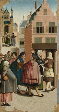 Die sieben Werke der Barmherzigkeit (Teil 5), Meister von Alkmaar