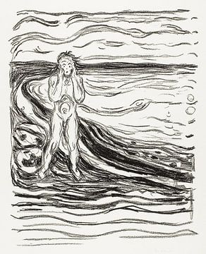 Alpha's wanhoop, Edvard Munch (ca. 1908–1909) van Atelier Liesjes