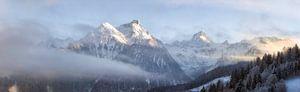 Oostenrijks winterlandschap , Brandnertal van