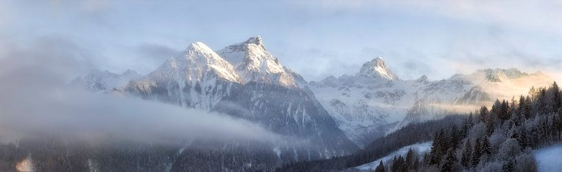 Oostenrijks winterlandschap , Brandnertal van Fotografie Egmond