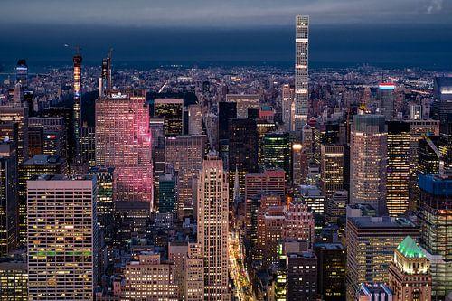 Aussicht vom Empire State Building van Kurt Krause