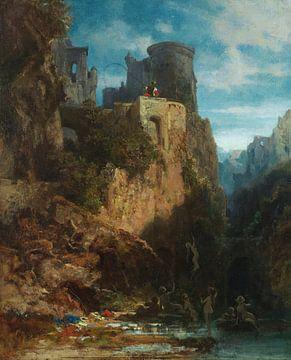 Nixenfang, CARL SPITZWEG, Ca. 1860 von Atelier Liesjes