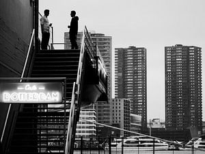 Schwarz-Weiß-Foto von Rotterdam