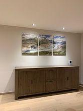 Klantfoto: Uitzicht op de Aletschgeltscher van Rob Kints, op canvas