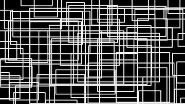 Labyrint in zwart-wit van Gera Wijlens