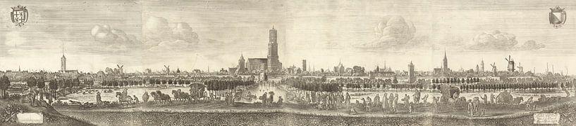 Blick auf Utrecht von Westen, Herman Saftleven (1684) von Meesterlijcke Meesters