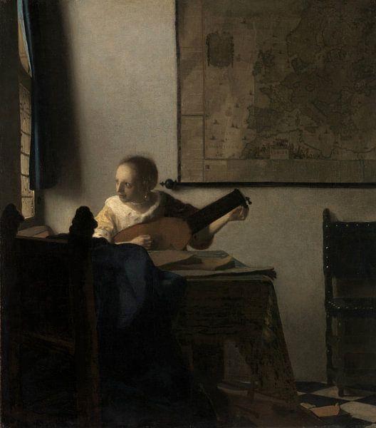 Vrouw met een Luit, Johannes Vermeer van Meesterlijcke Meesters