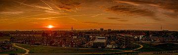 Zicht op Hilversum van Rop Oudkerk