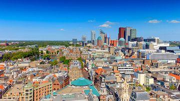 panorama van de skyline van Den Haag van