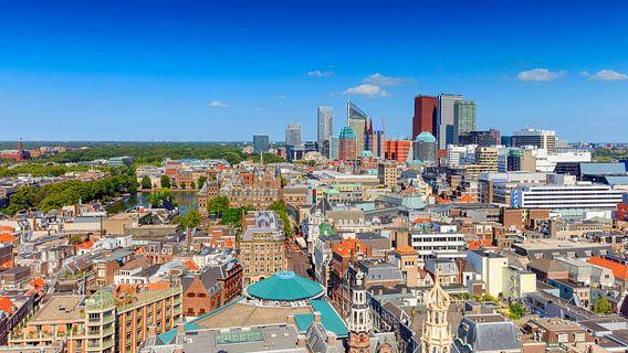 panorama van de skyline van Den Haag van gaps photography