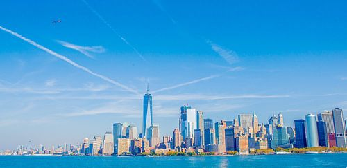 New York, Manhattan Skyline van