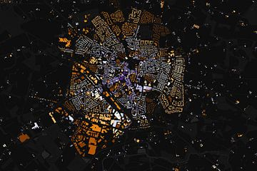 Kaart van Winterswijk abstract von Stef Verdonk