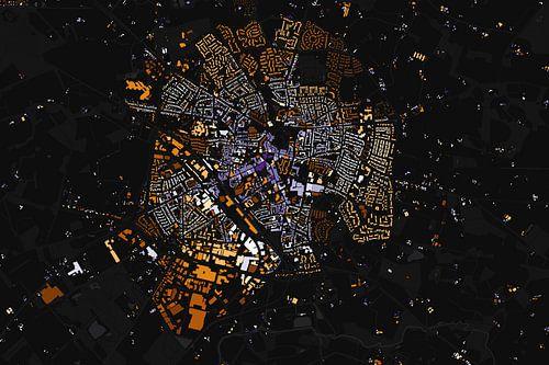 Kaart van Winterswijk abstract van
