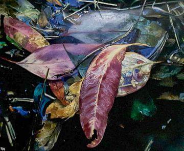 Herbst seidige Blätter von KB Prints