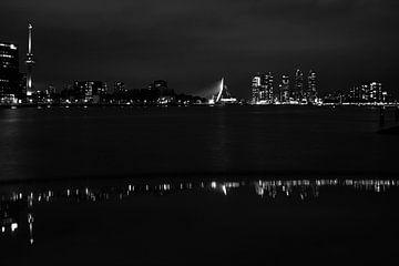 zwart wit, skyline rotterdam von Angelique Rademakers
